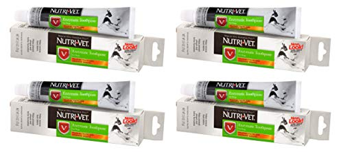 Nutri-Vet 4 Pack of Enzymatic Toothpaste for Dogs, 2.5 Ounces Each, Chicken Flavor