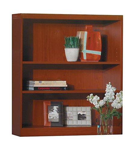(Mayline AB3S36LCR Aberdeen Bookcase, 3 Shelf, Cherry Tf)