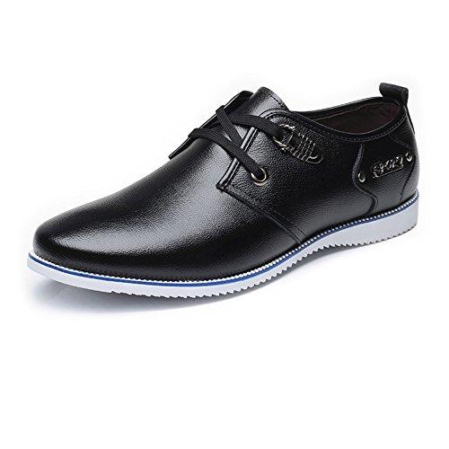 para ala de Mate Cordones Oxfords con XZP Trabajo de Zapatos con de Respirables Cuero Oxford Superiores Negro para Cuero Hombres Formal Genuino Forrados Punta Zapatos Hombres OUEBwxB6In