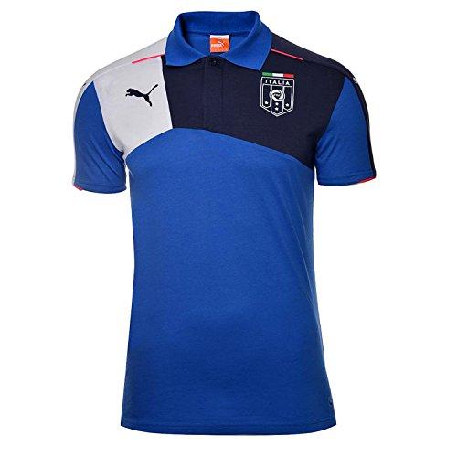 Puma Men's FIGC Italia Stadium Polo Shirt, Team Power Blue/Pea Coat, Medium