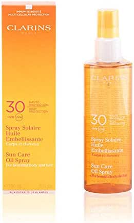 Clarins Sun Care High Protection for Beautiful Body and Hair UVA/UVB 30 Oil Spray for Unisex, 5 Ounce