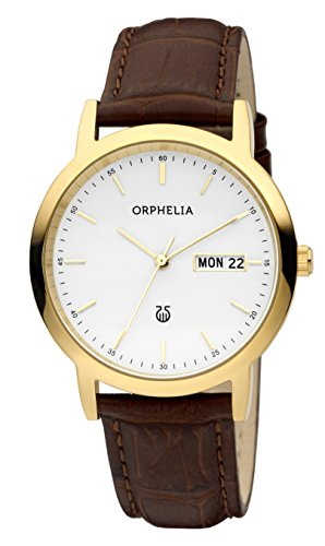 ORPHELIA Men's Analogue Momento Brown Leather-61606
