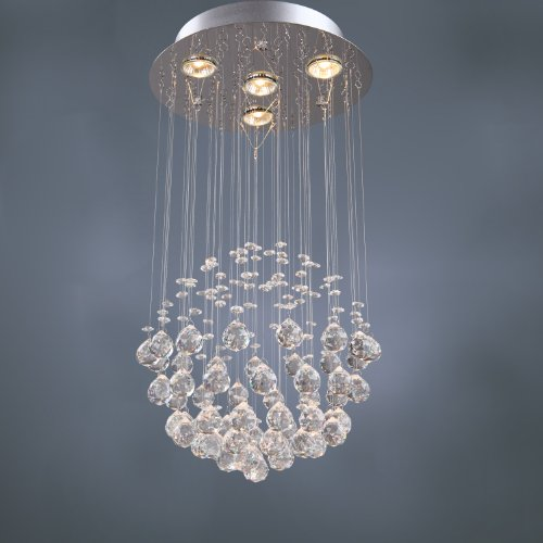 - SALE! LightInTheBox Chandelier Luxury Modern Crystal Bulb Included 4 Lights, Pendant Lights Ceiling Light Fixture for Living Room, Dining Room, Bedroom