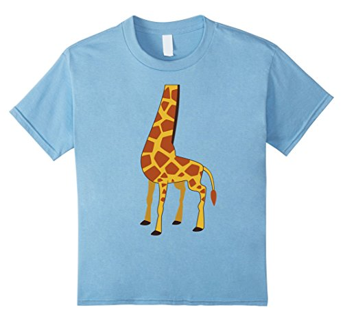 Kids Cute Giraffe Costume Halloween Shirt 12 Baby Blue (Infant Giraffe Halloween Costume)