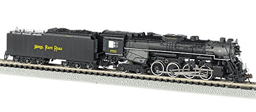 Bachmann Industries Nickel Plate #759 N Scale 2-8-4 Berkshire Steam Locomotive & Tender ()