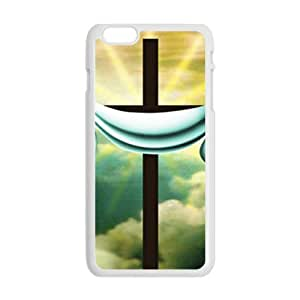 Happy Pure white cloth and cross Cell Phone Case for Iphone 6 Plus