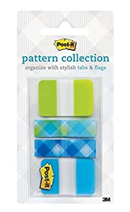 Post-it Tabs 1 x 1.5 Inches, 22/Package, Arrow Flags .47 x 1.7 Inches, 40/Package (686-LA-PLAID)
