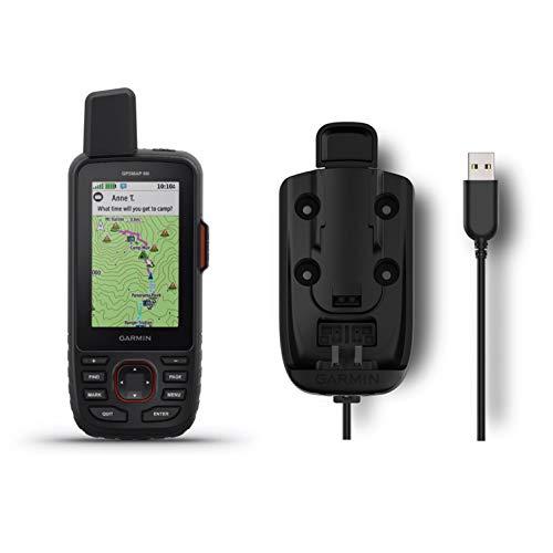 Garmin GPSMAP 66i GPS Handheld and Satellite Communicator and Garmin Powered Mount Bundle (010-02088-01)
