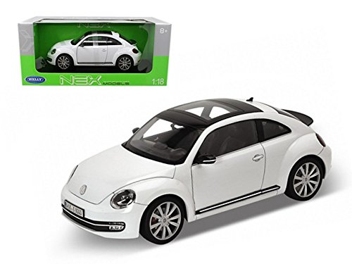 - Welly 18042w 2012 Volkswagen New Beetle White 1-18 Diecast Car Model