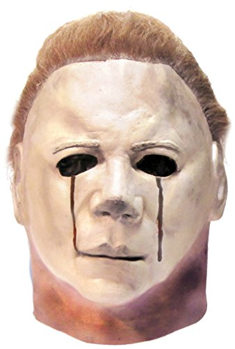 Michael Myers Clown Costumes (Michael Myers Blood Tears Halloween 2 Horror Latex Adult Halloween Costume Mask)