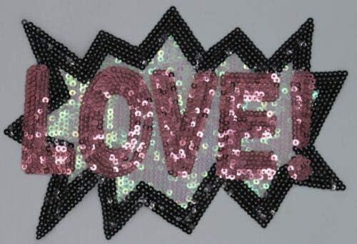 Pop Out Love Sequin Patch #1179