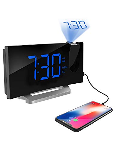 Mpows Projection Alarm Clock, 5