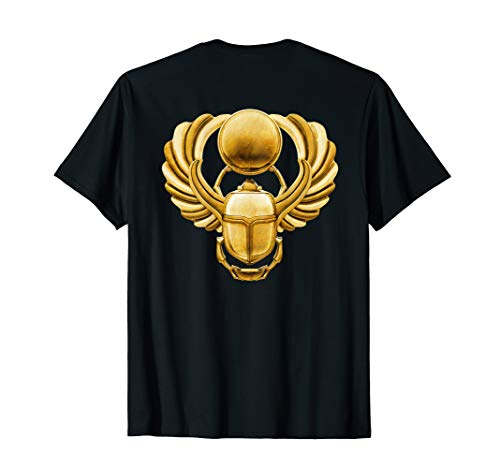 Gold Winged Egyptian Scarab Beetle T-Shirt