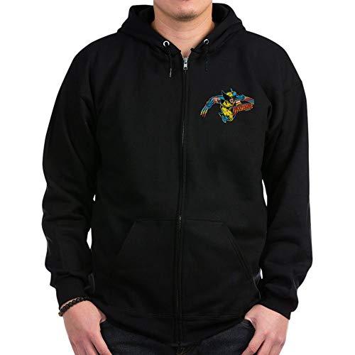 CafePress Wolverine Attack Zip Hoodie, Classic Hooded Sweatshirt with Metal Zipper Black