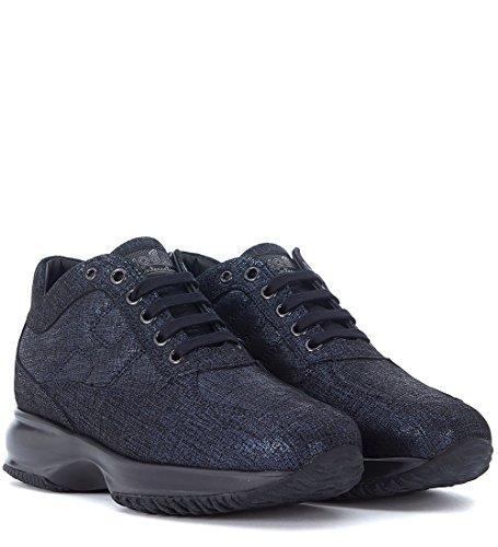 Hogan Sneakers Interactive in Suéde Shiny Blau Blue
