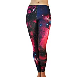 Comfy Yoga Pants – Workout Capris – High Waist Workout Leggings for Women – Lightweight Printed Yoga Legging