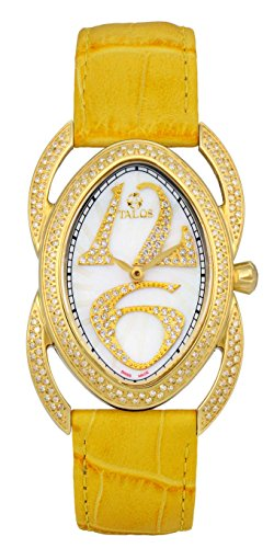 Talos Lotus Retro Curve 2167-26 Yellow Gold Ladies Wristwatch