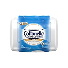 Cottonelle Flushable Wet Wipes, 42 Wipes per Pack, 1 pack, For Adults and Kids, Alcohol Free, Sewer Safe, Septic Safe