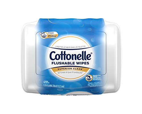 Cottonelle Flushable Wet Wipes, 42 Wipes per Pack, (42 Count)