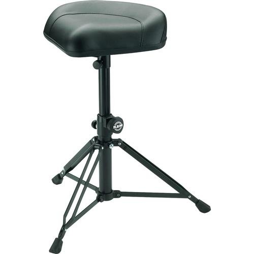 K&M Stands 14055.000.55 Drummer's throne - black faux leather by K&M Stands