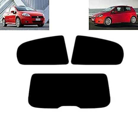 Pellicola Oscurante Vetri Auto Pre-Tagliata Fiat Grande Punto 3-Porte 2005-2009 Vetri Posteriori /& Lunotto