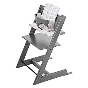 stokke tripp trapp high chair complete bundle in grey by stokke baby. Black Bedroom Furniture Sets. Home Design Ideas