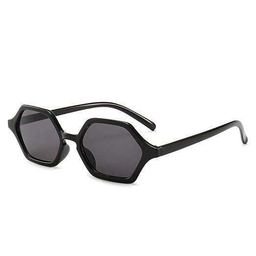 Yangjing-hl Gafas de Sol de polígono de Personalidad Gafas ...