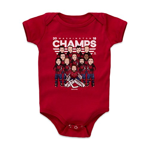 500 LEVEL Alex Ovechkin Baby Clothes, Onesie, Creeper, Bodysuit 3-6 Months Red - Washington Championship Baby Clothes - Alex Ovechkin 2018 Washington Championship WHT