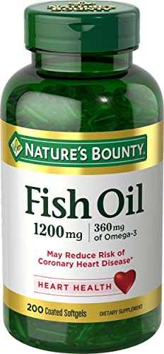 Nature's Bounty Fish Oil 1200 mg Odorless, 200 Coated Soft gels (Packaging May Vary) Review