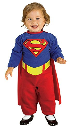 Comic Book Super Heroes Kids Costume Supergirl Romper (Infant Size) #885302 (Comic Book Halloween Costumes)
