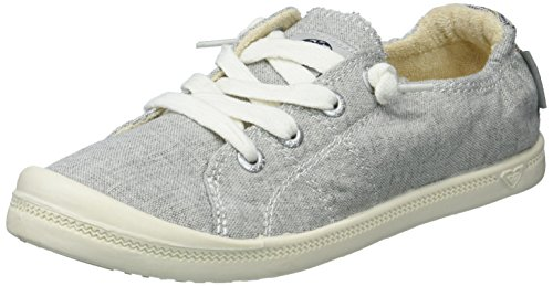 Roxy Women's Bayshore Slip on Shoe Sneaker, Grey ash, 8 Regular US (Ash Slip On Sneaker)