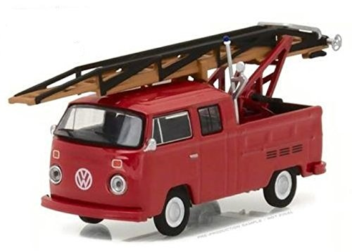 1976 Volkswagen Type 2 Double Cab Pickup Ladder Truck Series 5 Club V-Dub 1/64 by Greenlight 29870 E (Club Pickup)