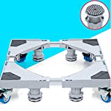 washer and dryer bases pedestal - ZfgG Furniture Dolly Roller Movable Base Size Adjustable with 4 Wheels and 4 Locking Strong Feet, Pedestal Telescopic Base for Portable Washing Machine Refrigerator Washer Dryer
