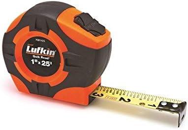 Lufkin TAPE,1″X25′,QUICKREAD,HI-VIZ ORANGE PQR1425N Measuring & Layout Tapes