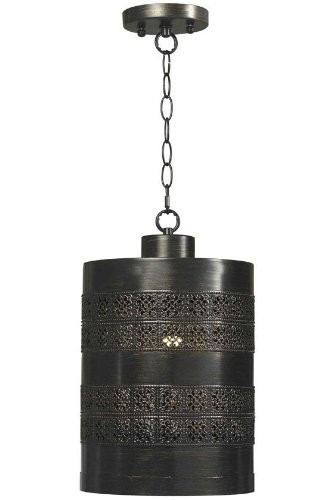 Seville Pendant, CYLINDER 12x10, AGED BRONZE (Seville Ceiling Lighting)