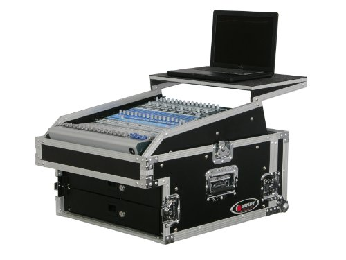 Odyssey FZGS1304 Flight Zone Glide Style Ata Combo Rack: 13u Top Slant, 4u Vertical
