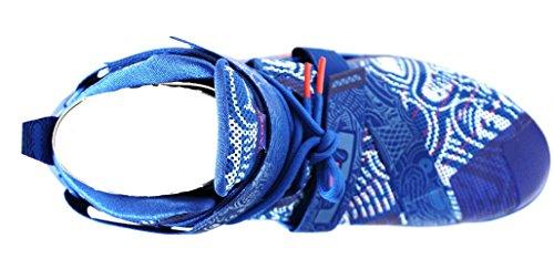 Nike Herren Lebron Soldier IX Basketballschuh Spiel Royal / Weiß / Bright Crimson