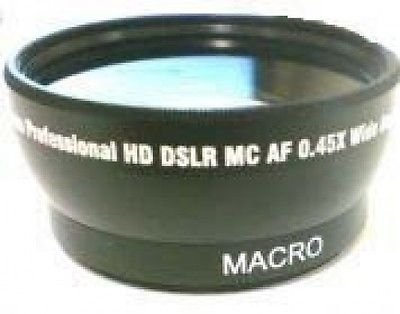 Wide Lens for Panasonic AG-HMC40, Panasonic AG-HMC40P, Panasonic AG-HMC40PU