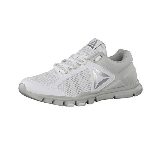 Reebok Bd4833, Zapatillas de Deporte para Mujer Blanco (Blanco (Wht /         Skull Grey /         Silver Met /         Grey)