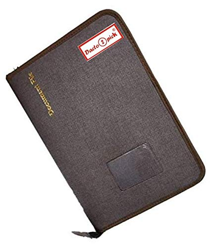 Pareek Fs Size (A4) Docoment and Certificates Holder Cum Chain File Bag 20 Inner Leafs Colour Brown