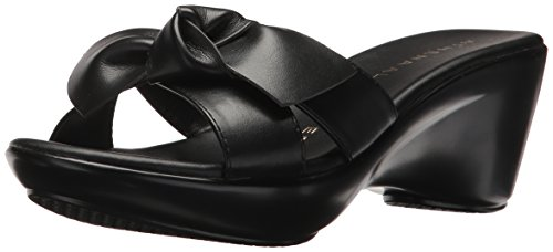 Athena Alexander Women's GIADA Wedge Sandal, Black, 10 M US (Athena Alexander Leather Sandals)