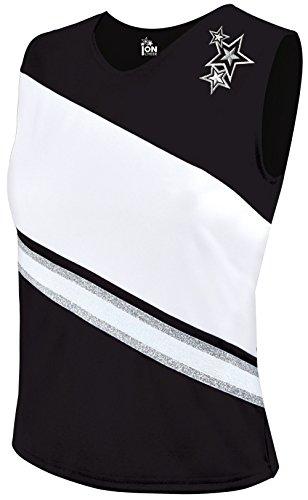 - Rotation Cheerleading Shell Top - Black Youth X-Small