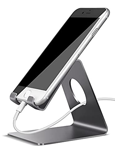 Cell Phone Stand, Lamicall iPhone Dock : Cradle, Holder, Stand For Switch, all Android Smartphone, iPhone 6 6s 7 8 X Plus 5 5s 5c charging, Accessories Desk - (Nexus 6 Case Aluminum)