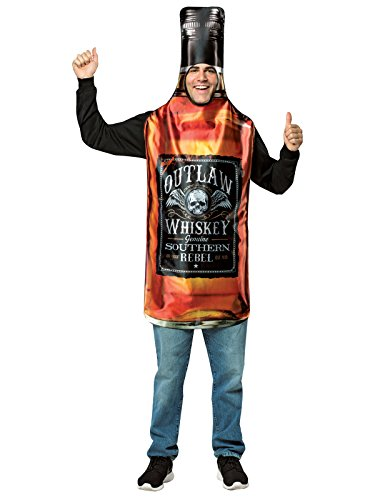 Rasta Imposta Men's Get Real Whiskey Bottle, Brown,