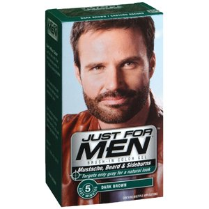 Amazon.com : JUST FOR MEN BEARD / MUSTACHE DARK BROWN 1 OZ ...