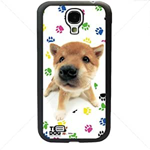 Cute Puppy Dogs For Samsung Galaxy S4 SIV I9500 TPU Case Cover (Black)