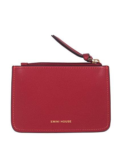 EMINI HOUSE Women Split Leather Coin Purse Mini Zip Pouches Change Holder Wallets Card Case-Wine Red ()
