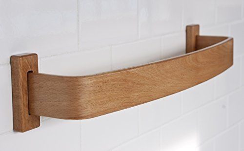 Beech Bentwood Towel Bar - Choose from Widths 10