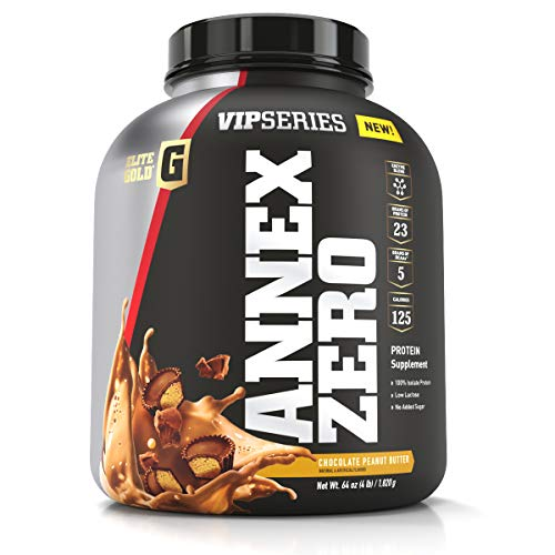 Complete Nutrition Elite Gold VIP Series Annex Zero Whey Protein Powder, Chocolate Peanut Butter, 23 g Protein, 5+ g BCAAs, 4 lb - Elite Powder Protein