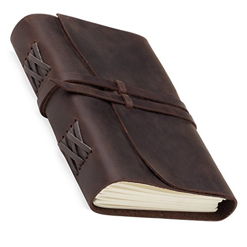 Leather Journal Refillable Bound Travel Notebook Sketchbook